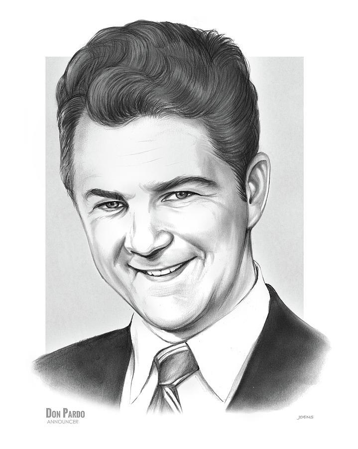 Announcer Drawing - Don Pardo by Greg Joens