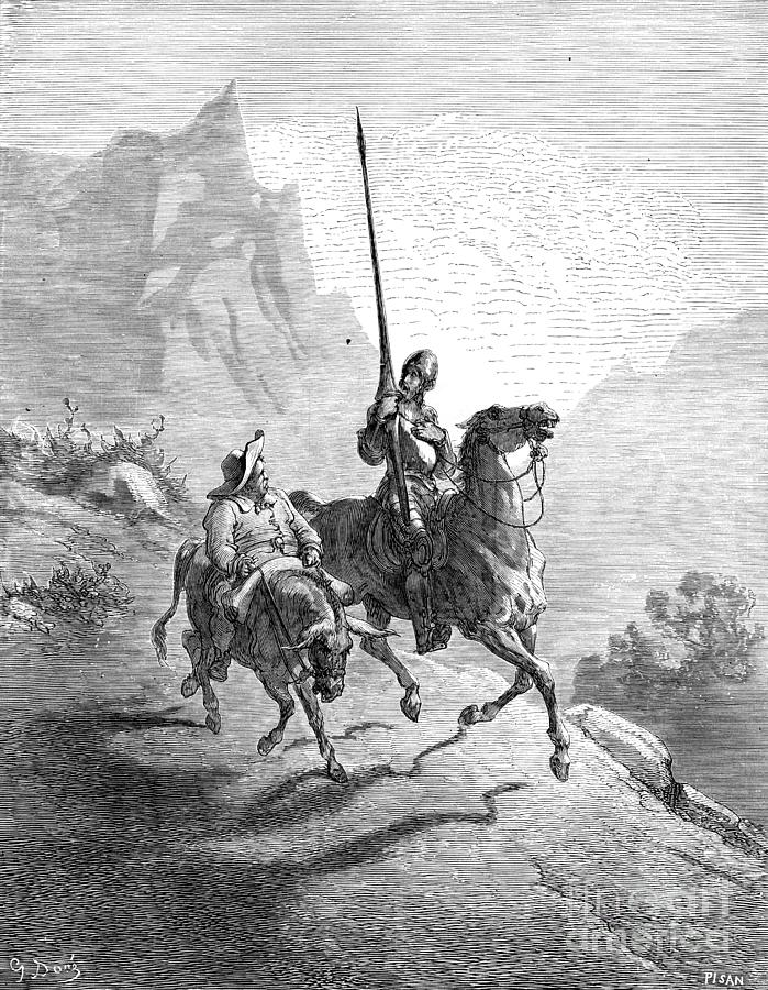 16th Century Photograph - Don Quixote And Sancho by Granger