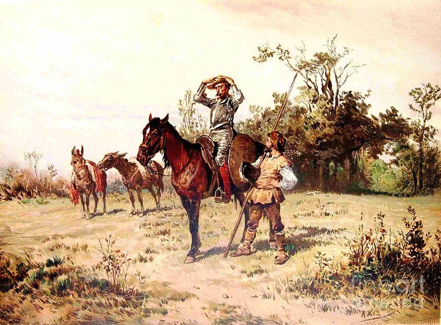 Don Quixote And Sancho Panza Painting