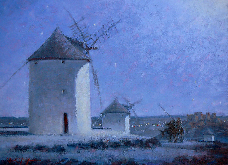 Spain Painting - Don Quixote by Frank LaLumia