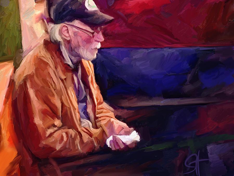 Portrait Digital Art - Don by Scott Waters