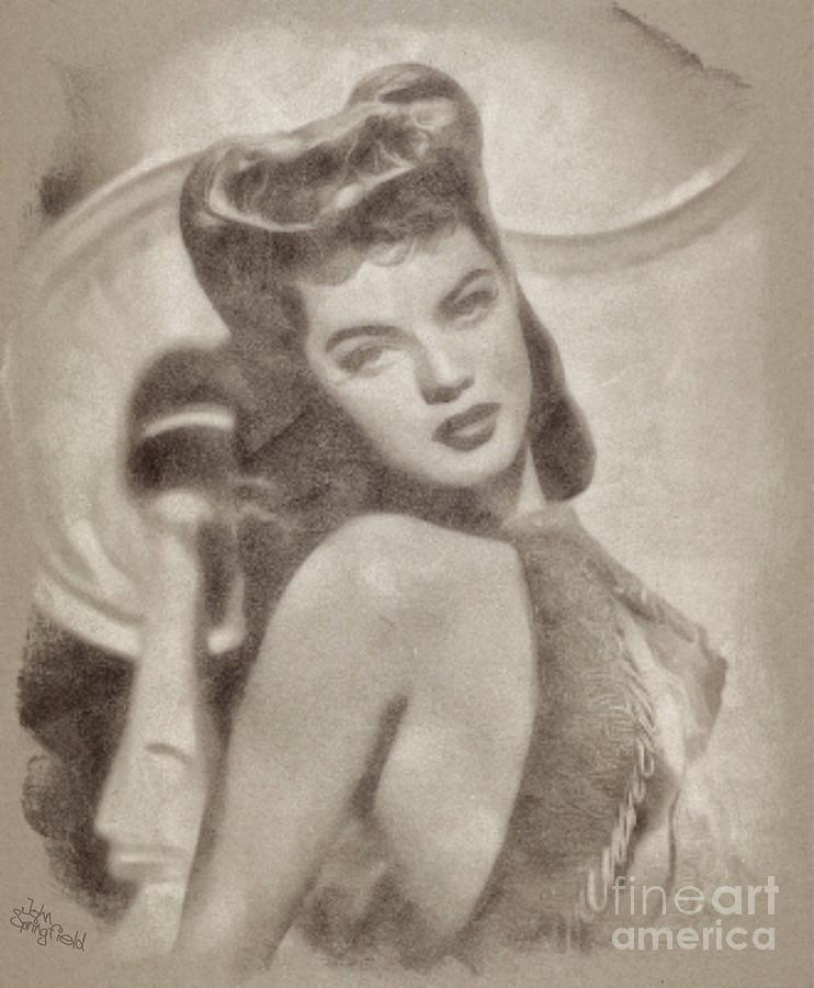 Dona Drake, Hollywood Actress And Singer Drawing