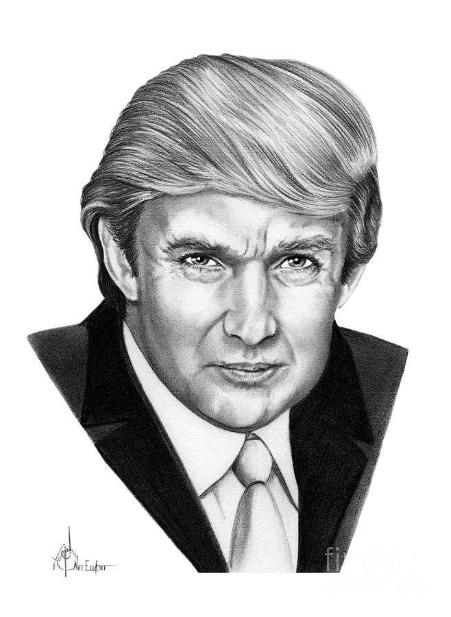 Donald Trump Drawing by Murphy Elliott