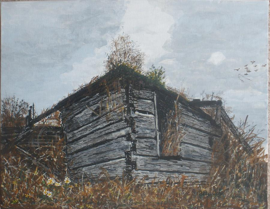 Old Buildings Painting - Done Its Time... by Betty-Anne McDonald