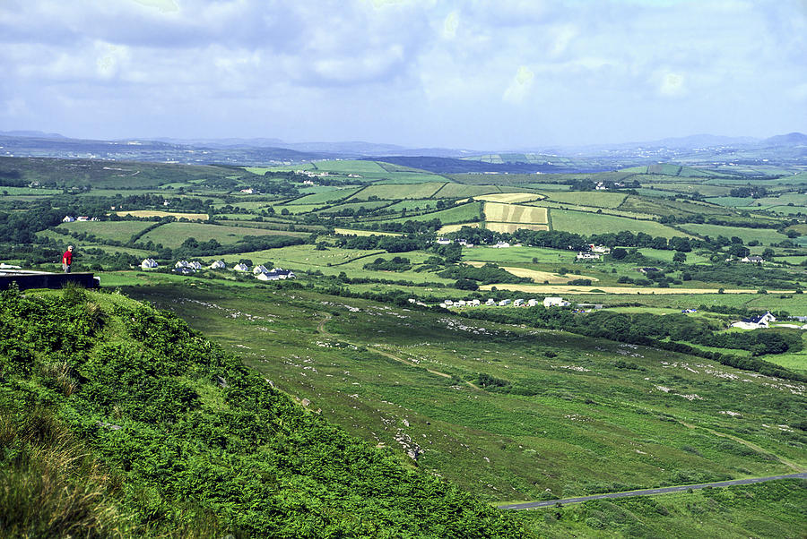 Green Photograph - Donegal Patchwork by Sally Weigand