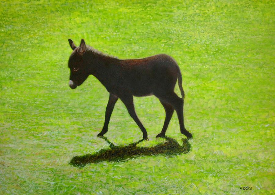 Donkey Painting - Donkey Foal by Eamon Doyle