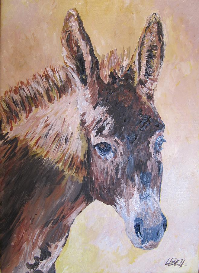 Donkey Painting - Donkey In The Sunlight by Leonie Bell