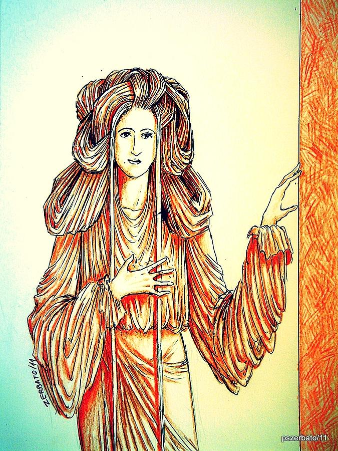Spiritual Being Digital Art - Donna Angelicata by Paulo Zerbato