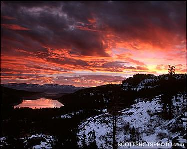 Donner Lake Photograph - Donner Lake Sunrise 4 by Scott Thompson