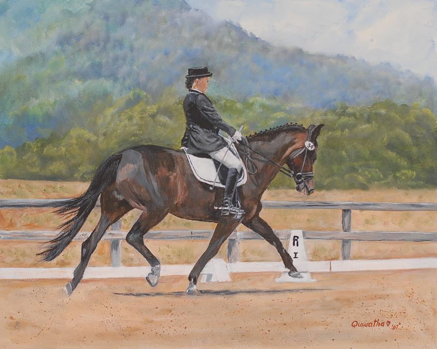 Horse Painting - Donnerlittchen by Quwatha Valentine