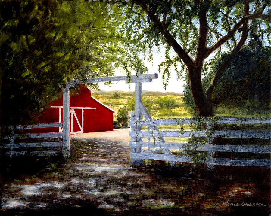Barn Painting - Dons Barn by Lance Anderson