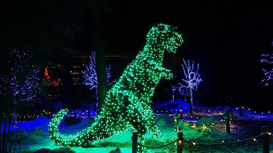 Dinosaur Digital Art - Dont Bite Santa by Barkley Simpson