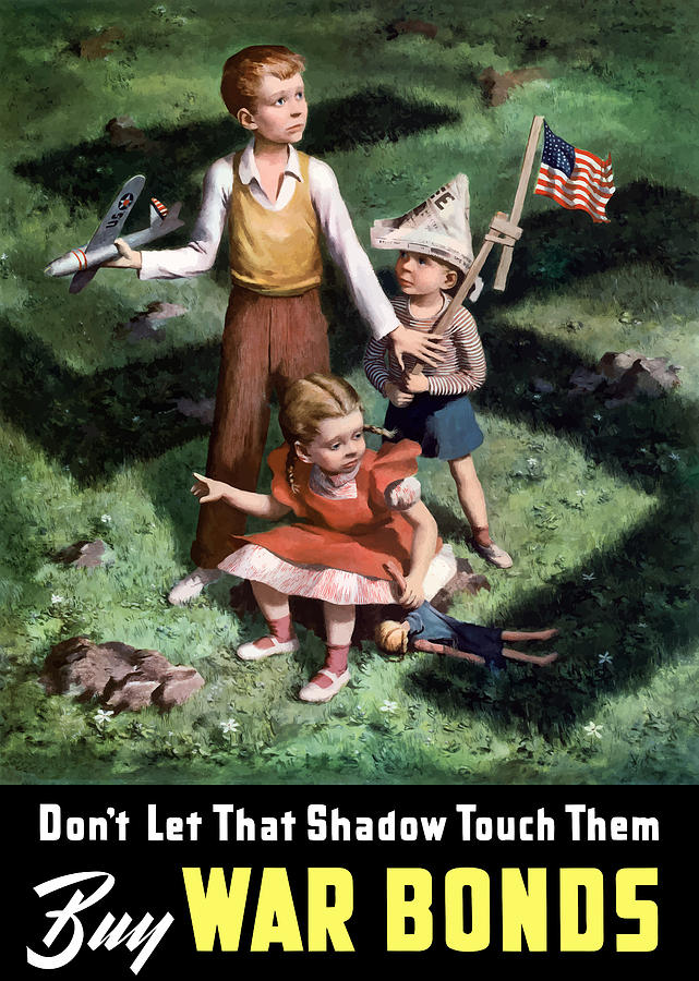 World War Ii Painting - Dont Let That Shadow Touch Them by War Is Hell Store