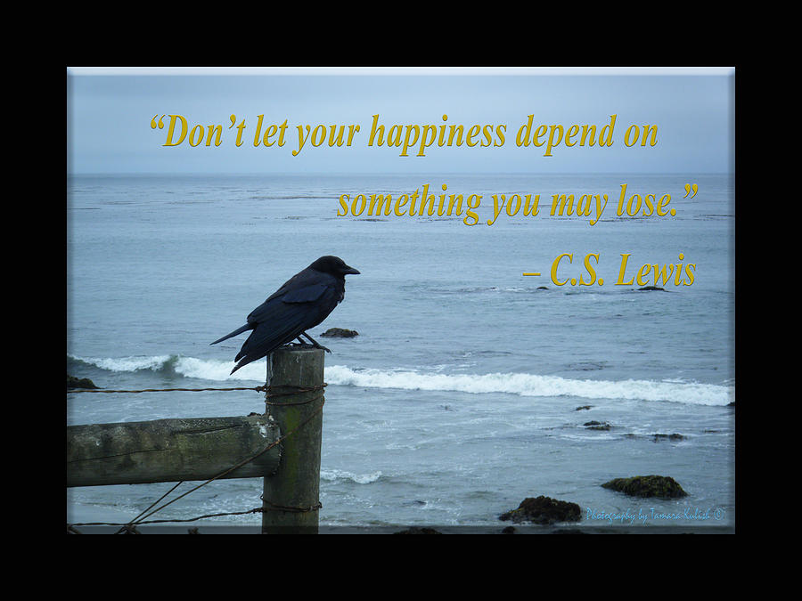 C.s. Lewis Photograph - Dont Let Your Happiness Depend on Something You May Lose by Tamara Kulish