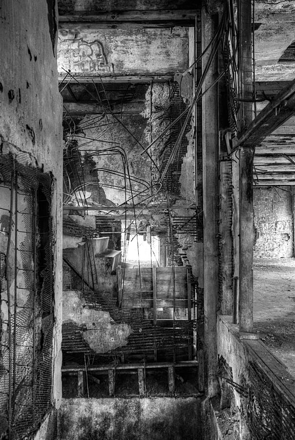 Ruins Photograph - Dont Look Down by Matthew Green