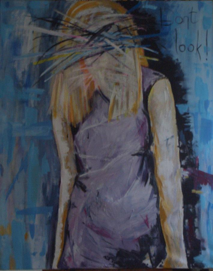 Female Figure Painting - Dont Look by Lavinia Young