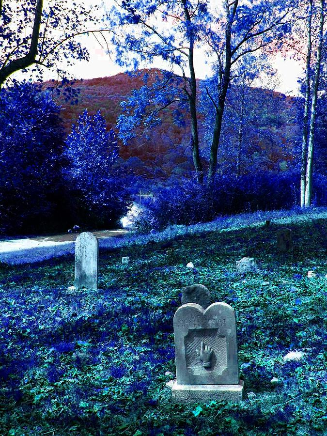 Cemetary Photograph - Dont Point by Lee M Plate