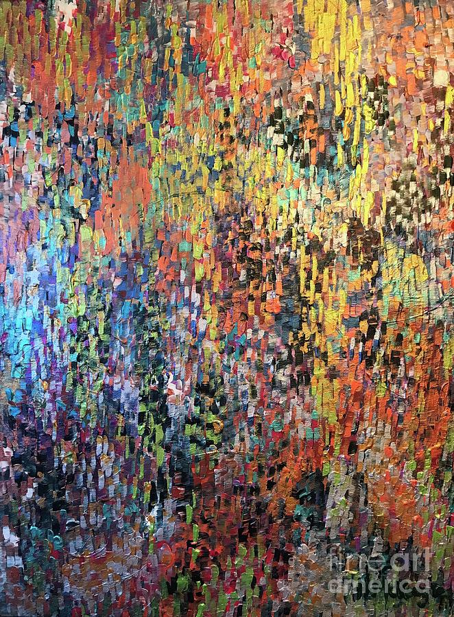 Abstract Painting - Dont Stop Be Leafin by Heather McKenzie