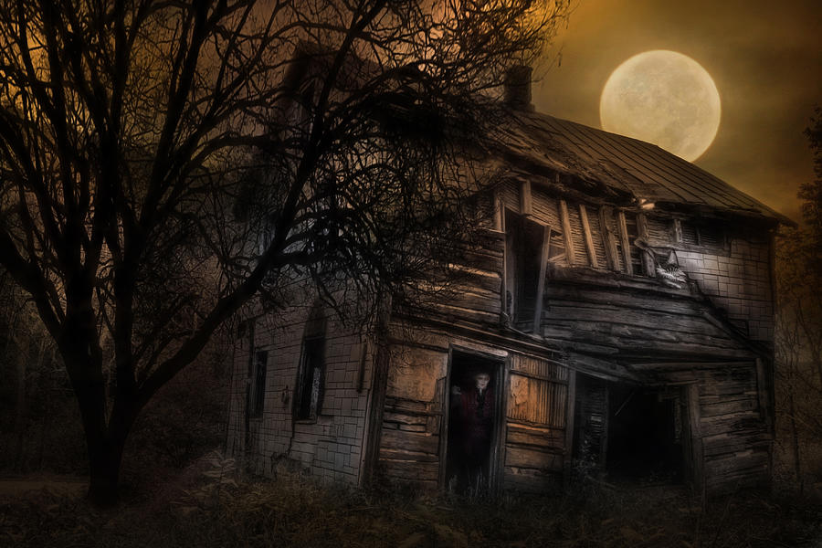 Halloween Photograph - Dont Take The Back Roads by Lori Deiter