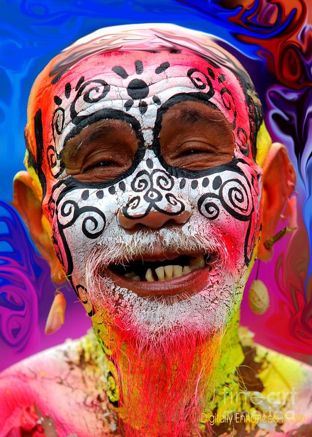 Masskara Festival Photograph - Dont Worry Be Happy Portrait by Dindin Coscolluela