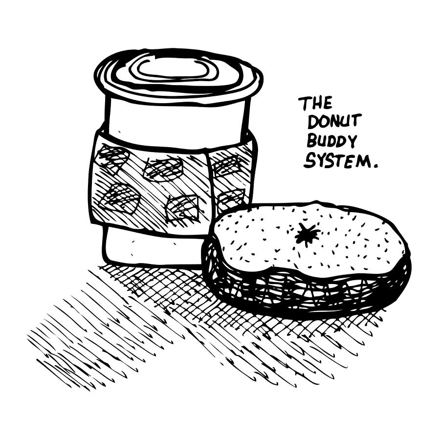 Drawing Drawing - Donut Buddy System by Karl Addison