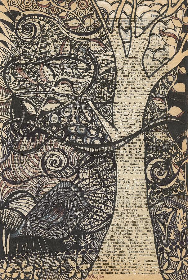 Bird Drawing - Doodle Bird by Laura Lobner