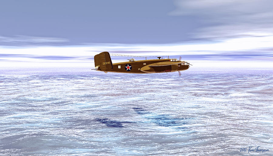 Airplane Digital Art - Doolittle Raider by Ken Thompson