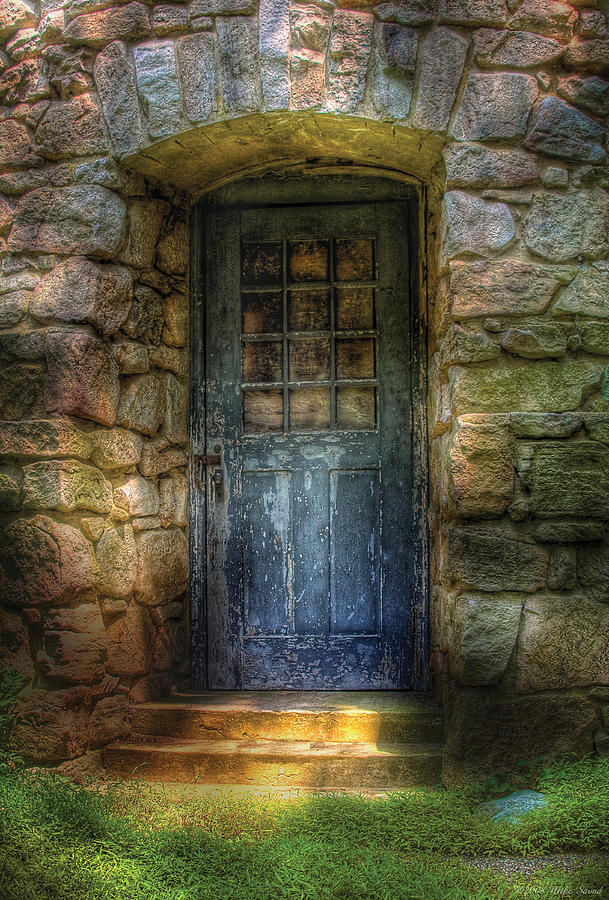 Savad Photograph - Door - A Rather Old Door Leading To Somewhere by Mike Savad