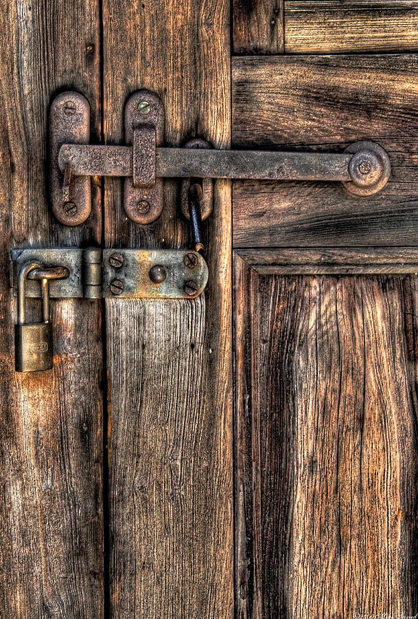 Savad Photograph - Door - The Latch by Mike Savad