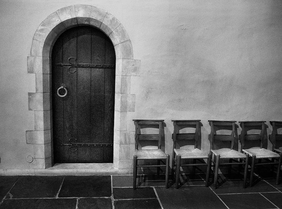 Washington National Cathedral Photograph - Door And Chairs Washington National Cathedral Washington D C by : washington door - pezcame.com