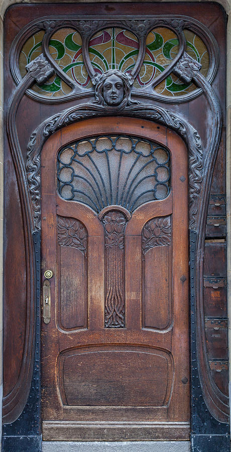 Art Nouveau Photograph - Door at number 22 in Strasbourg by W Chris Fooshee