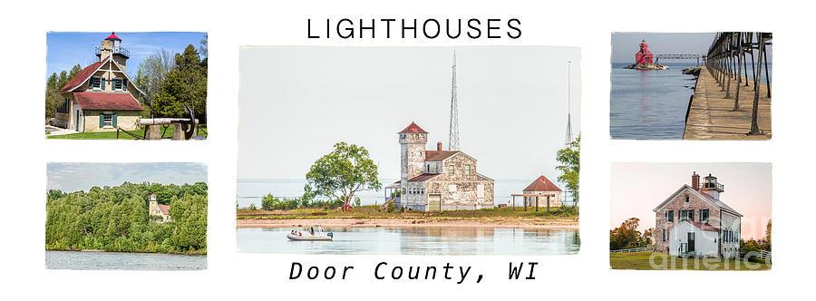 Door County Photograph - Door County Lighthouse Collection by Nikki Vig