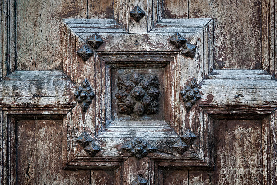 Door Photograph - Door Fragment Of The Church Of The Jacobins by Elena Elisseeva