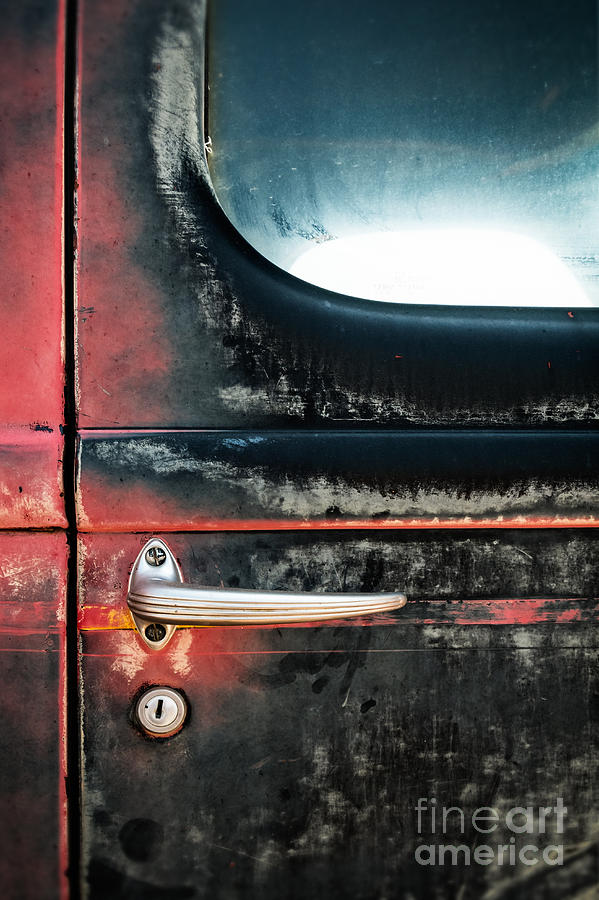 Door Handle on Weathered Antique Truck by Bryan Mullennix