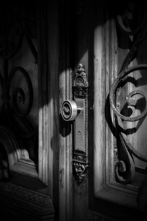 Illustration Photograph - Door In Bw by Valmir Ribeiro