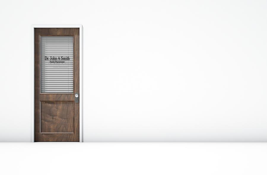 Room Digital Art - Door In Doctors Room by Allan Swart