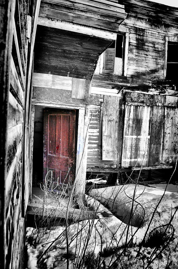 Abandoned Photograph - Door In Purple by Emily Stauring