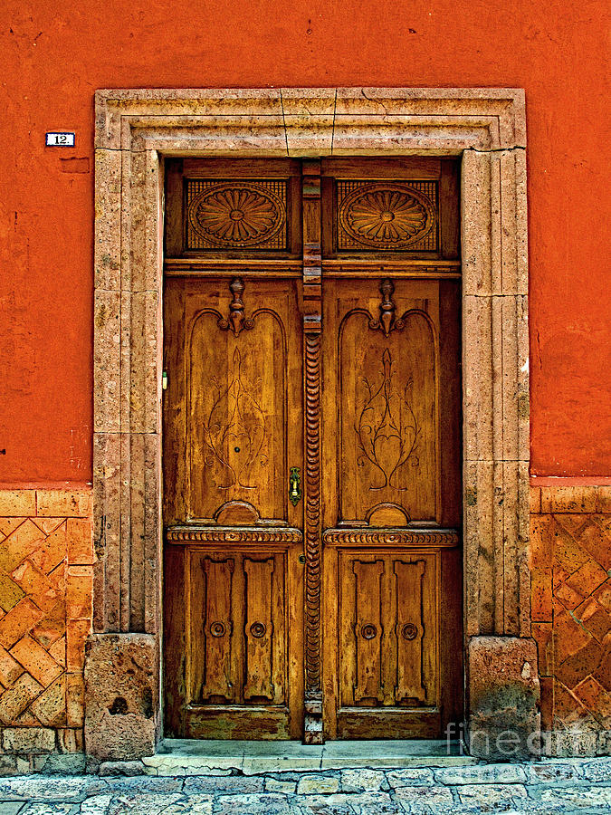 Darian Day Photograph - Door In Terracotta by Mexicolors Art Photography