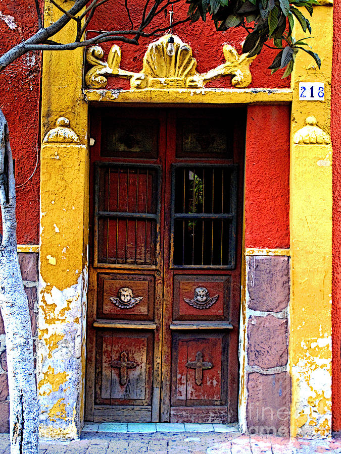 Mexico Photograph - Door In The House Of Icons by Mexicolors Art Photography