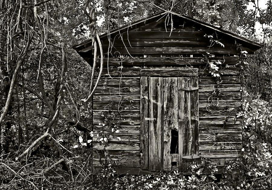 Old Building Photograph - Door Met Foot by David A Brown