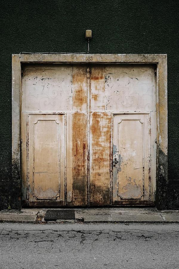 Old Door Photograph - Door No 163 by Marco Oliveira