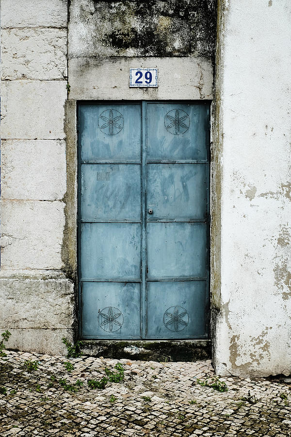 Blue Gate Photograph - Door No 29 by Marco Oliveira