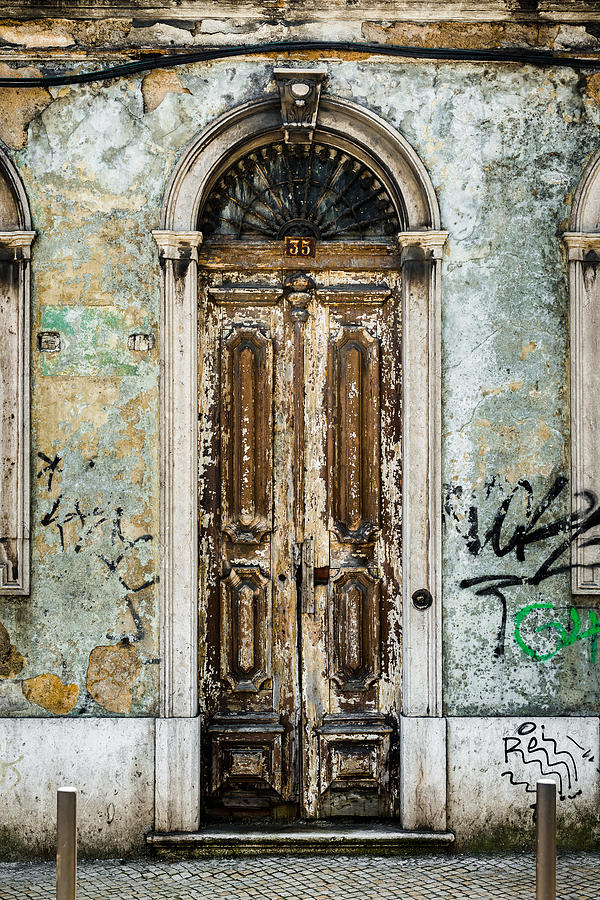 Street Photograph - Door No 35 by Marco Oliveira