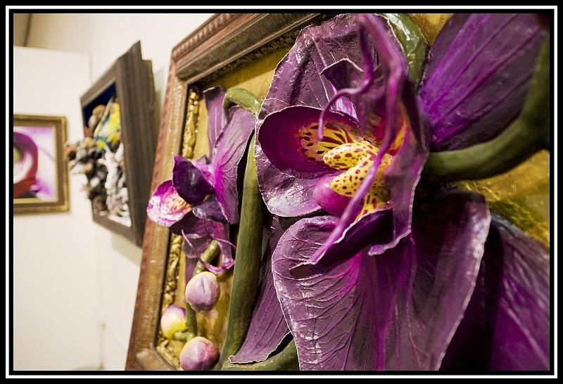 Door To Orchids - View 3 Painting by Nelbert  Flores