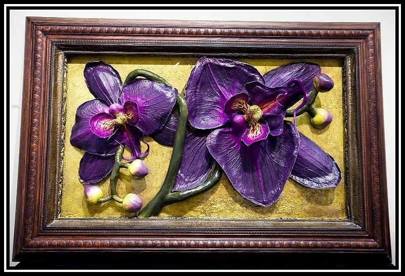 Door to Orchids Painting by Nelbert  Flores