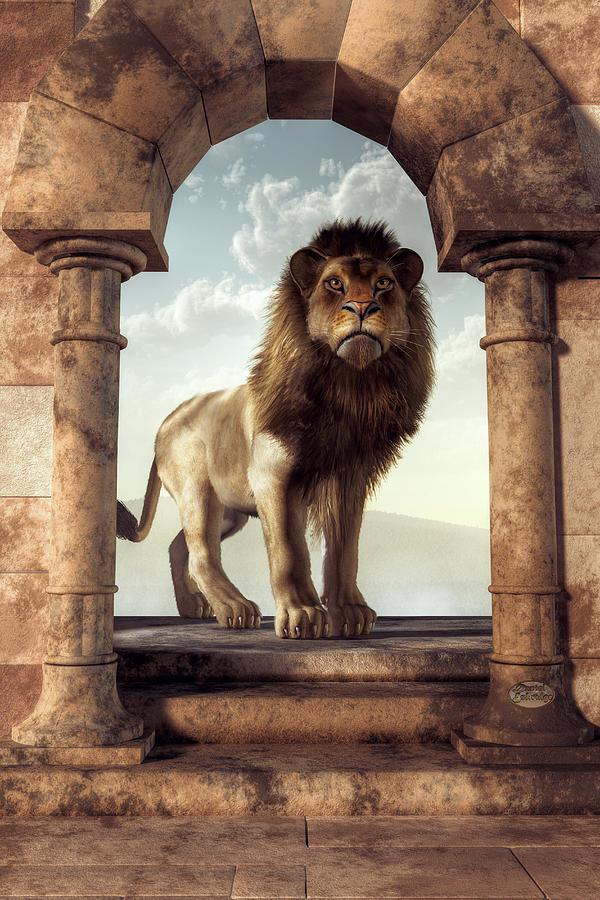Door To The Lions Kingdom Digital Art
