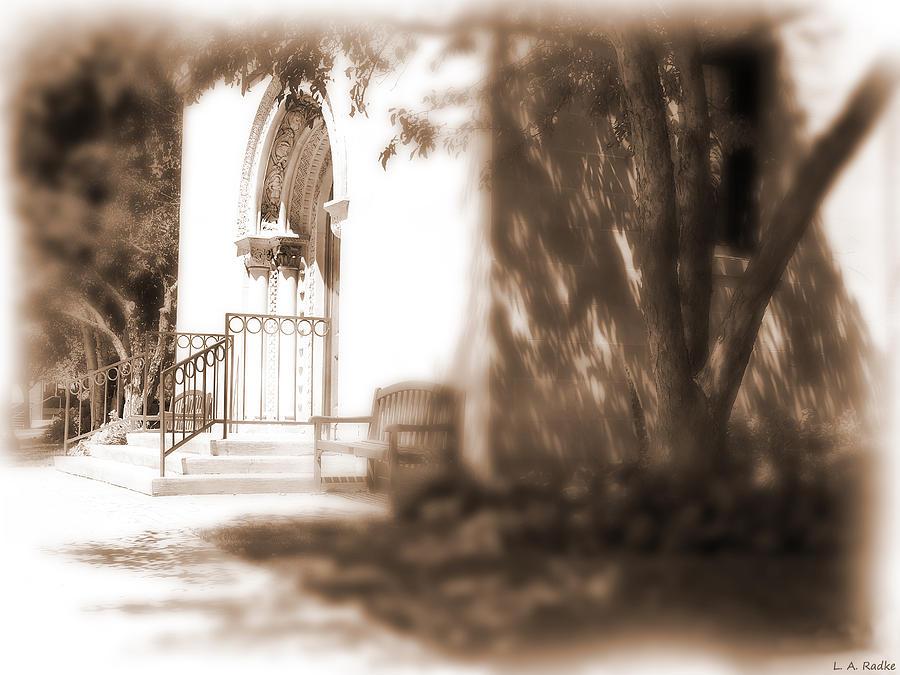 Sepia Photograph - Door To Yesterday by Lauren Radke