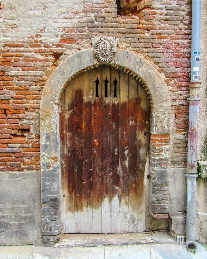 Door Photograph - Door With Three Lites In Toulouse by W Chris Fooshee