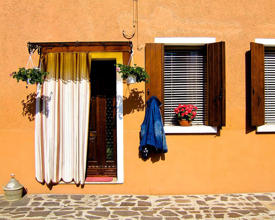 Italy Photograph - Doors And Windows IIi Burano Italy by Carl Jackson