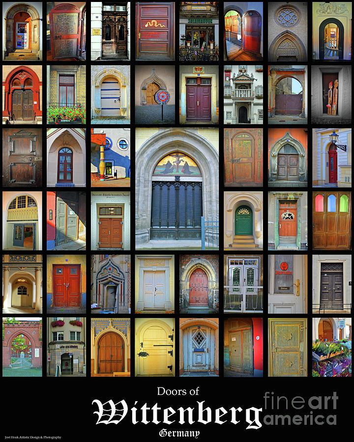 Doors Photograph - Doors Of Wittenberg Germany by Jost Houk